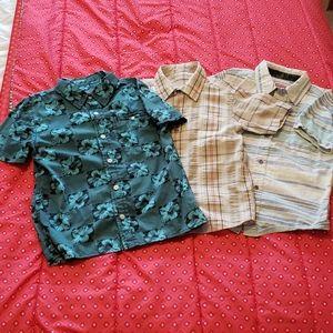 3/18 Boys button short sleeve shirt bundle Sz 5/6
